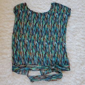 Trouve Nordstrom Sheer top with open back large